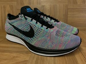 RARE-Nike-Flyknit-Racer-Multicolored-Trainers-Sz-13-526628-304-Woven-Shoes-LE