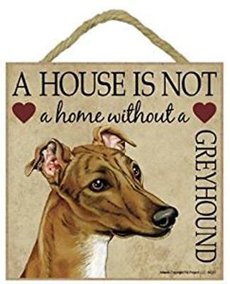 A house is not a home without a Whippet sign plaque wood gift//present