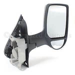 FORD TRANSIT MK6 /& 7 SHORT ARM MANUAL WING MIRROR BLACK EXCL SIDE REPEAT O//S