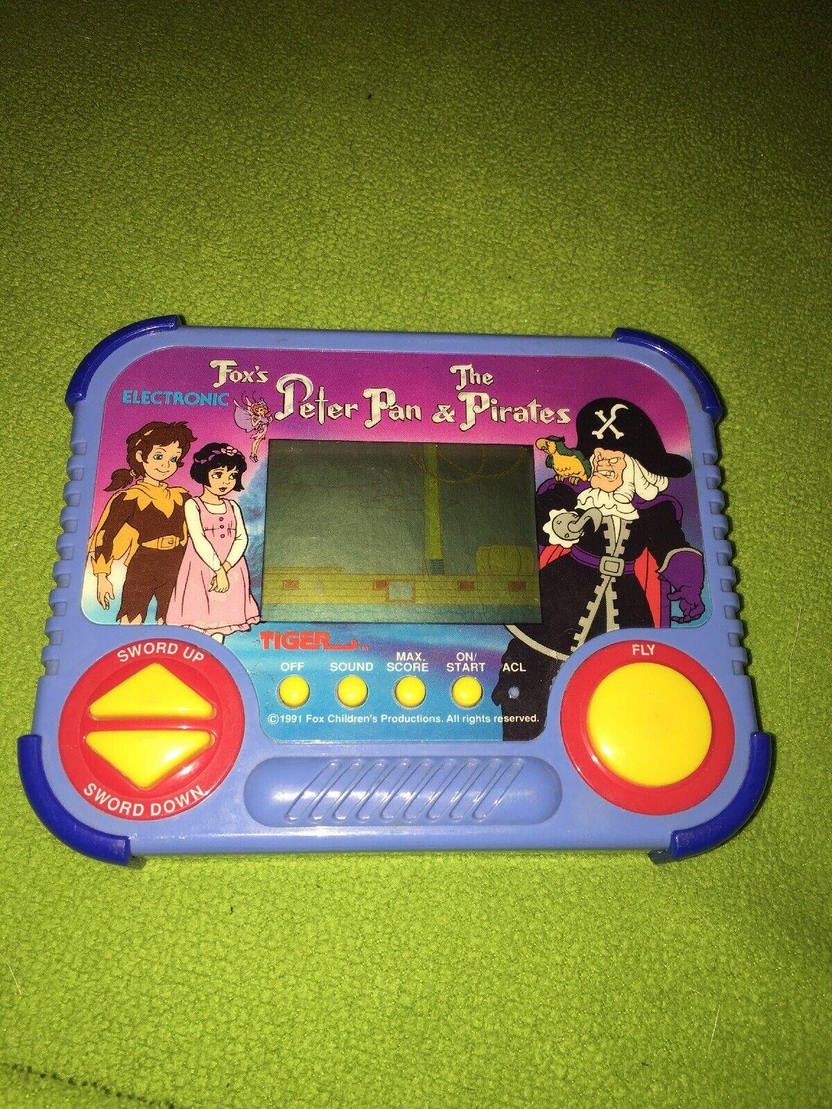 VTG Vintage 1991 Tiger Electronic Peter Pan Pirates Handheld LCD Electronic Game