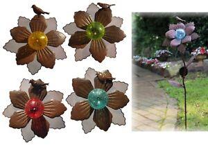 Détails sur Solaire LED Piquet Metal Fleur 4 Couleurs Décoration de Jardin  90 cm Lampe