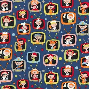 Fq when i grow up michael miller cotton fabric for Retro space fabric uk