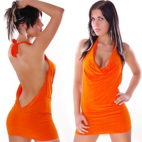 Miniabito Vestitino Donna Abito Vestito Top Lungo 4WORLD A886 Tg Unica veste S//M
