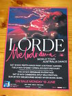 LORDE - 2017 Melodrama Australia Tour - Laminated Promo Poster - Official