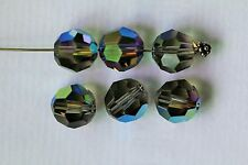 6 X Swarovski ROUND Beads #5000 10mm Many Special Effect Colors!! Crystal CAL AB