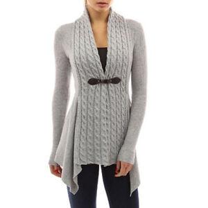 12653766f Image is loading Women-Irregular-Knitted-Cardigans-Sweater-Knitwear-Coat- Jacket-