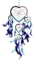 """Handmade Dream Catcher 15"""" Multi Color Heart Shaped Feathers Wall Hanging 40018"""