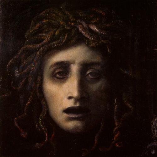 "Handmade Oil Painting Reproduction on Canvas 30/"" x 30/"" Medusa by Arnold Bocklin"