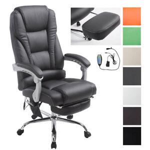 Poltrona Relax Ufficio.Dettagli Su Sedia Ufficio Massaggiante Pacific V2 Poltrona Relax Similpelle Reclinabile