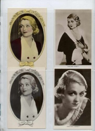 Constance bennett 1930s movie film star postcard collection lot 4 vintage photos