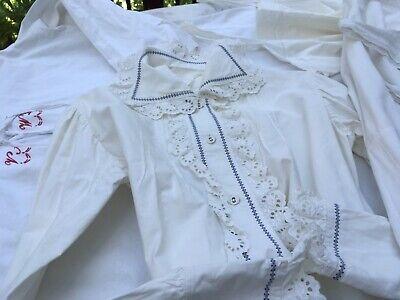 Dynamisch Antike Nacht- Und Unterwäsche Baumwolle Leinen Spitze Sickerei In Weiß Ab 1900