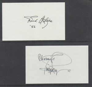Fred Astaire Ginger Rogers American Actors Dancers Signed 3x5 Cards Ebay