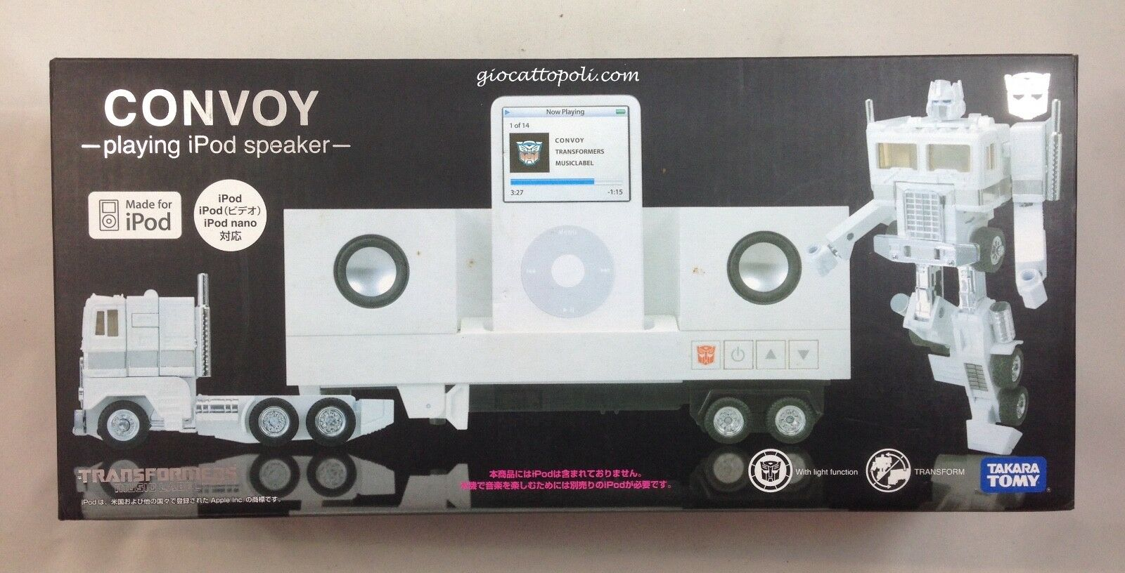 CONVOY PLAYING IPOD SPEAKER TRANSFORMERS TAKARA TOMY  NUOVO *@]A ROMA[@*