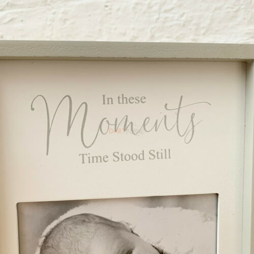 Standing New Born Neutral Baby Birth Details Picture Collage Display Photo Frame