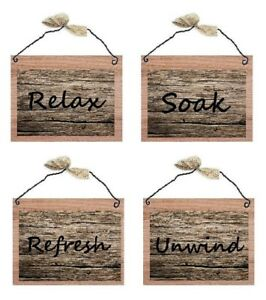 Rustic-Bathroom-Pictures-Relax-Soak-Unwind-Refresh-Bath-Wall-Hangings-Plaques