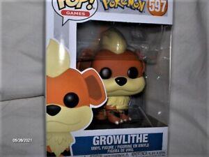 Pokemon GROWLITHE POP Vinyl Figur # 597 ca. 9 cm Film Kino Manga OVP,Neu,Lizenz