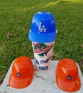 Mini Plastic Baseball Hat Helmet Ice Cream Cup LA Dodgers Plus 1988 ... e90bff9e95f