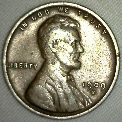 1909 Lincoln Wheat US Penny in GOOD Condition G