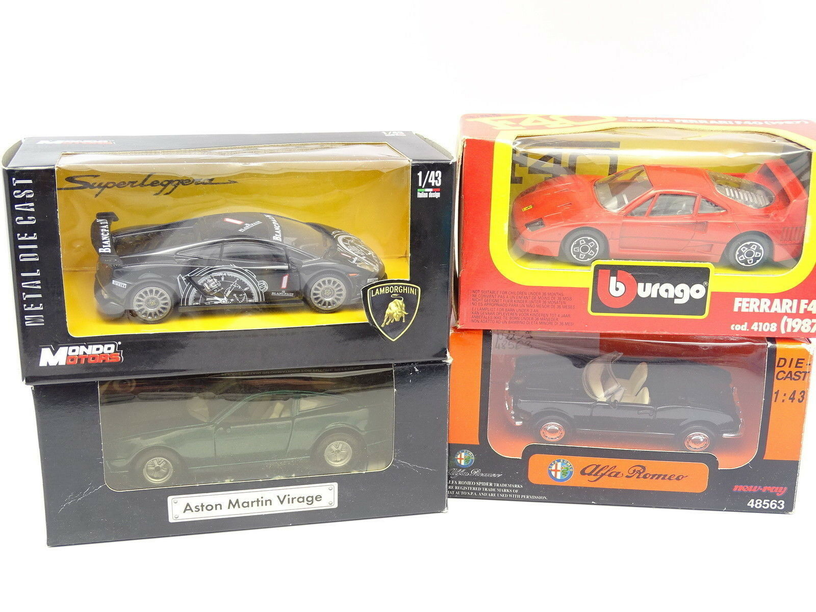 Diversas 1 43 - Lote de 4   Lamborghini Lamborghini Lamborghini - Aston Martin - Ferrari - Alfa Romeo 2f9977