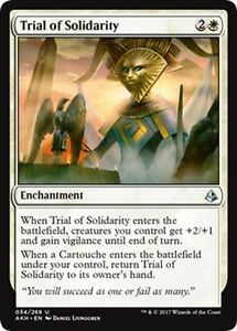x4 Cartouche of Solidarity MTG Amonkhet C M//NM English