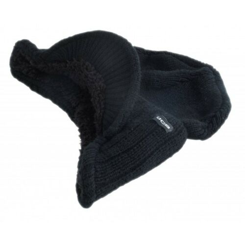 JCB Peaked Beanie Warm Winter Thermal Insulated Outdoor Black Workwear Hat