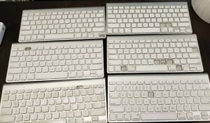 Apple Magic keyboards A1314 missing pieces for parts. Used lot, w/o batteries