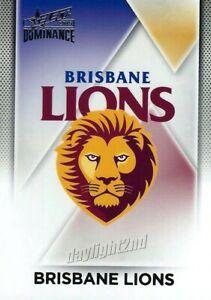 New-2019-BRISBANE-LIONS-AFL-Card-CLUB-LOGO-Dominance