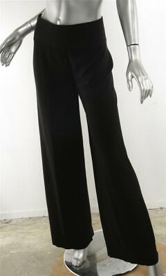 Pants Sonia Rykiel Mujer Lana Color Negro Elástico Talle Alto Yet Not Vulgar