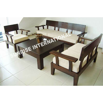 NEW 6 Seater Wooden Sofa set 3+2+1+ Center table !!