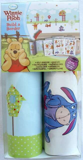 Arredo cameretta Winnie The Pooh Build a Border 108 Stickers