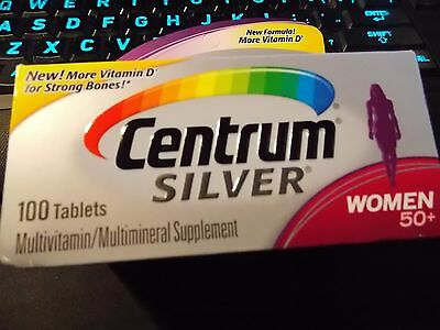 Centrum Silver Women Multivitamin/Multimineral Supplement 100 Count - EXP 08/18
