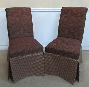 Outstanding Details About Pair Of Skirted Parsons Chairs Dining Accent Fireside Chairs Pdpeps Interior Chair Design Pdpepsorg
