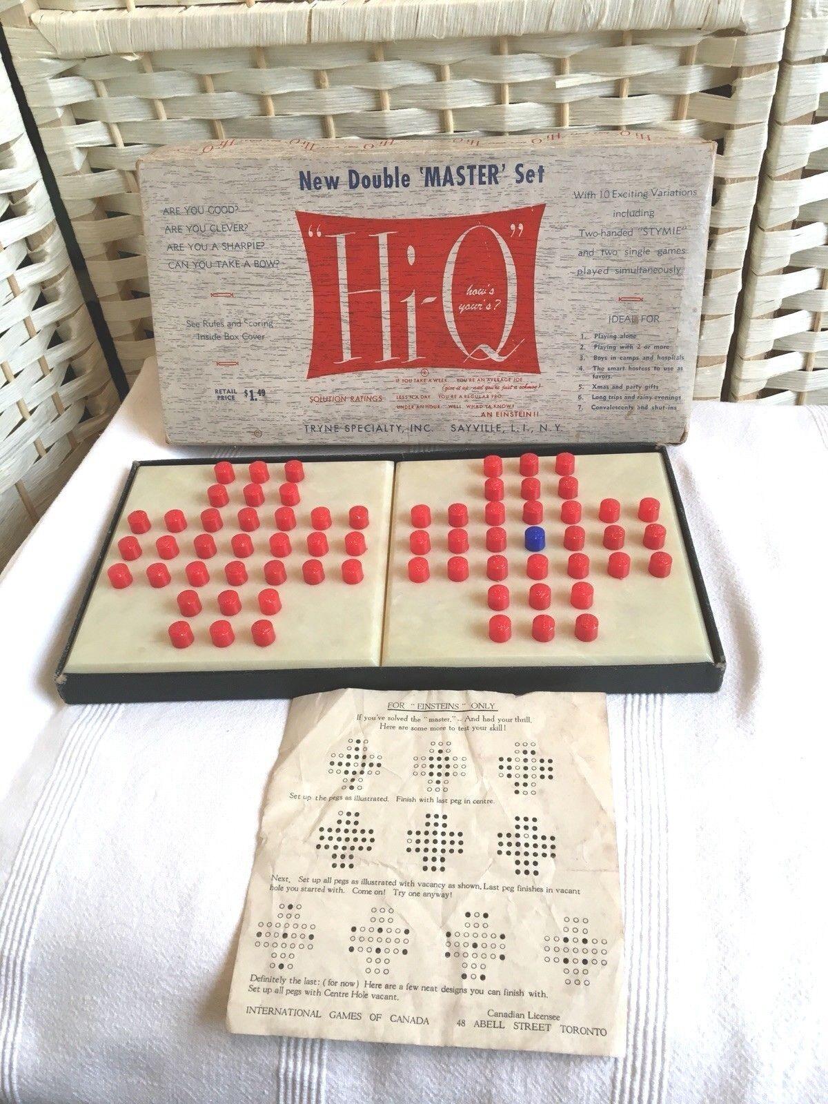 Vintage 1950's Hi Q Double Master Peg Game