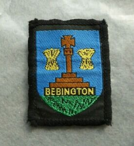 Vintage-cloth-Bebington-Scouts-badge-2-x-1-5-inches