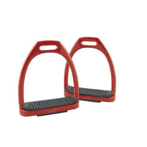 Red Lightweight Aluminium Coloured Stirrups