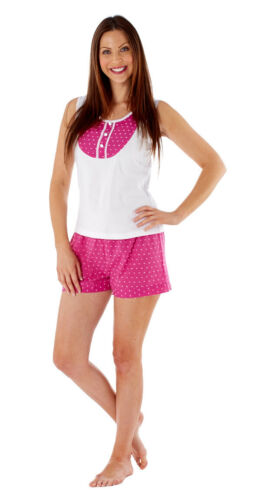 Inspirations Women/'s Amanda Summer Sleeveless Top /& Short Pants Pyjama Set