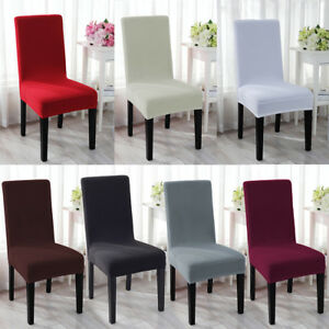 Marvelous Details About Stretch Spandex Dining Room Chair Cover Removable Seat Slipcover Furniture Decor Camellatalisay Diy Chair Ideas Camellatalisaycom
