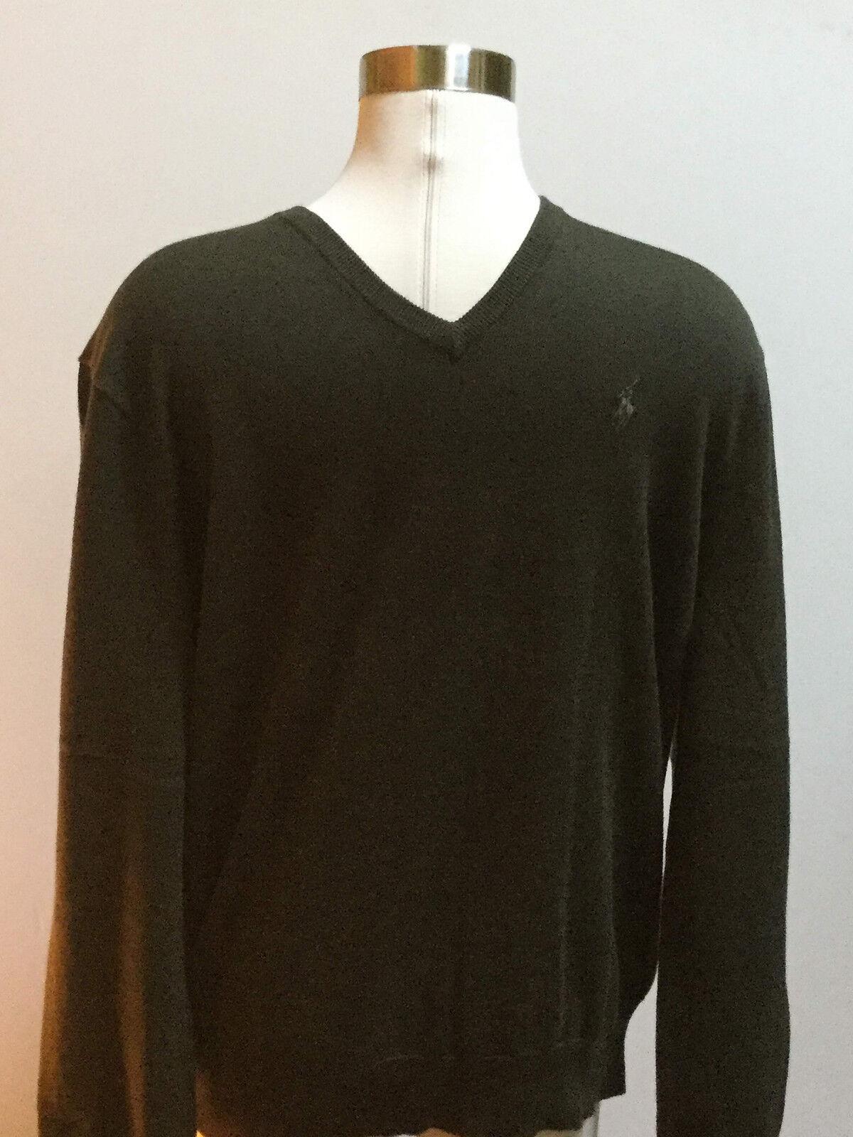 Polo Ralph Lauren men pima cotton green sweater size large