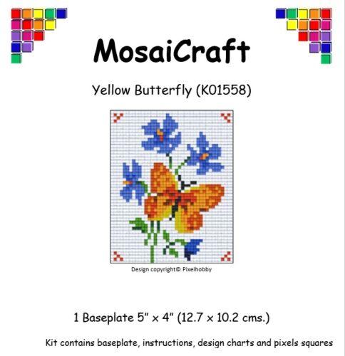 MosaiCraft Pixel Craft Mosaic Art Kit /'Yellow Butterfly /'Pixelhobby