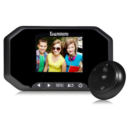 """3/"""" Door Peephole Camera 160 Degrees Detection Video Viewer Night Vision US"""