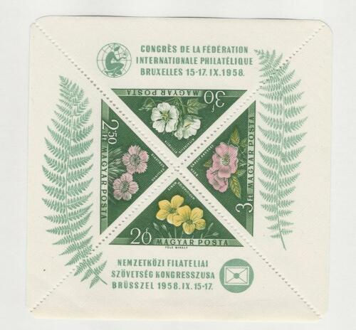 Hungary, Postage Stamp, #1202a Sheet Mint NH, 1958 Flowers