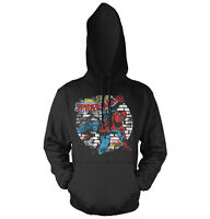 Officially Licensed Distressed Spider-man Hoodie S-xxl Sizes
