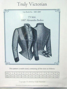 bodice-jacket-blouse-sewing-pattern-Truly-Victorian-TV466-late-1880-039-s-Alexandra