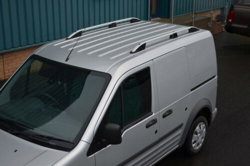02-12 Aluminium Roof Rack Rails Side Bars Set To Fit LWB Ford Transit Connect