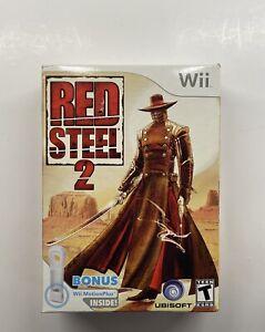 Nintendo Wii Red Steel 2 Big Box w/ Motion Plus Add On Adaptor NEW SEALED!!