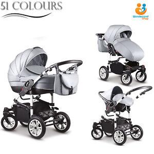 New Baby Travel System Car seat Swivel wheels Pram Pushchair Stroller Buggy