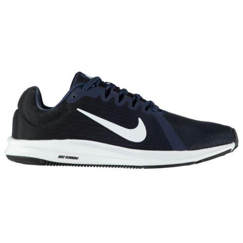Nike blanco Zapatillas 8 Trote Correr Marino Para Downshifter Hombre Azul rq68UPArT