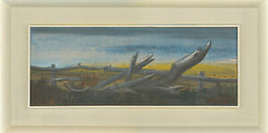 F. Woolley - Signed & Framed Mid 20th Century Oil, Wood by the Fence