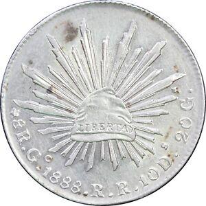 Mexico-8-Reales-Go-1885-R-R-Guanajuato-KM-377-8-SKU4