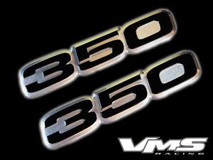 VMS 1 CHEVY 502 CI CUBIC INCH ENGINE HO BIG BLOCK ALUMINUM EMBLEMS CHROME BLACK